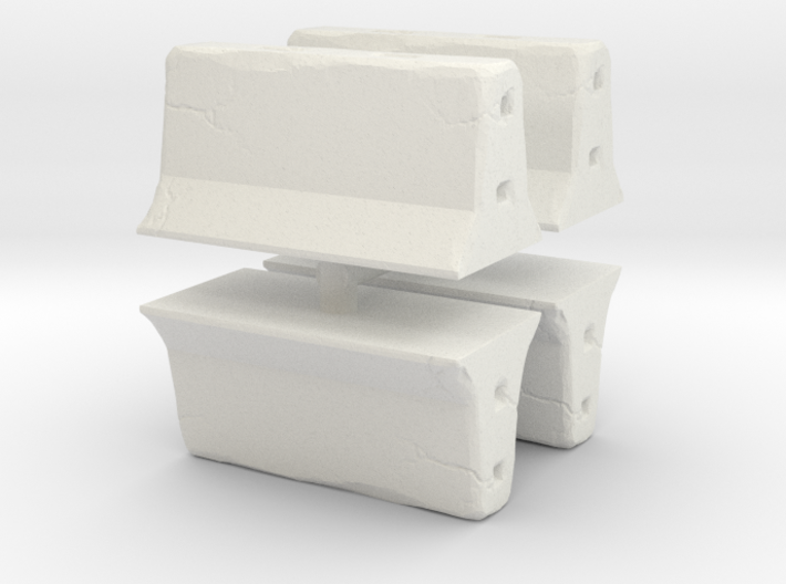Concrete barrier (4 pieces) 1/87 3d printed