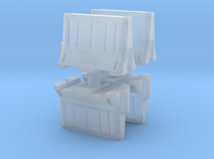 Interlocking traffic barrier (x4) 1/120 3d printed
