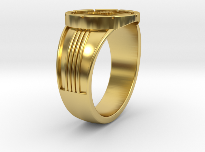 Supergirl Legion Flight Ring, size 10 19.84mm 3d printed