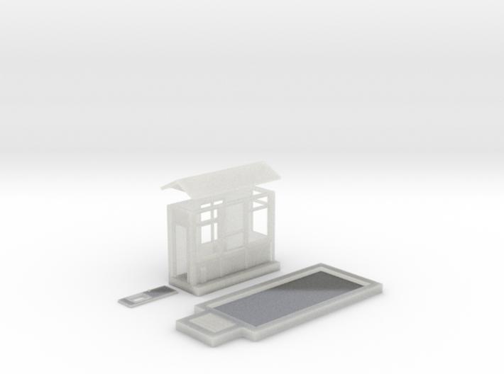 N-Scale Grain Scale & Shack 3d printed