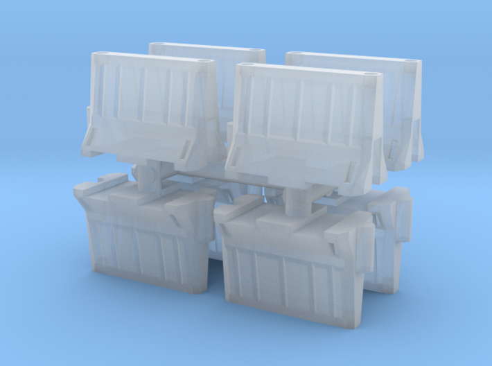Interlocking traffic barrier (x8) 1/285 3d printed