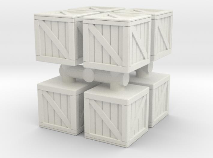 Wood crate prop (x8) 1/220 3d printed