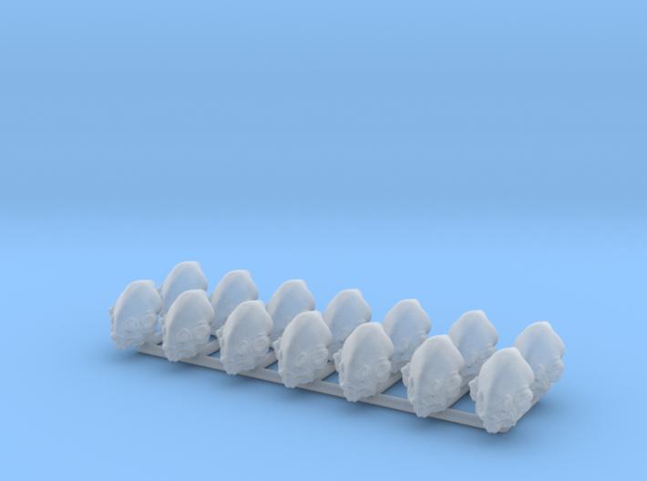 (Legion) 14x Mon Calamari Heads 3d printed