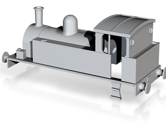 OO Gauge 0-4-0T Industrial Locomotive Body 3d printed