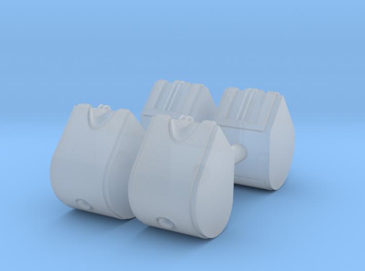 1/87th Set of Four 31.5 gallon DEF Urea Tanks 3d printed
