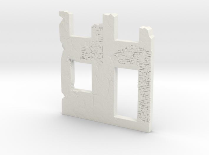 Building wall ruins 1/72 3d printed