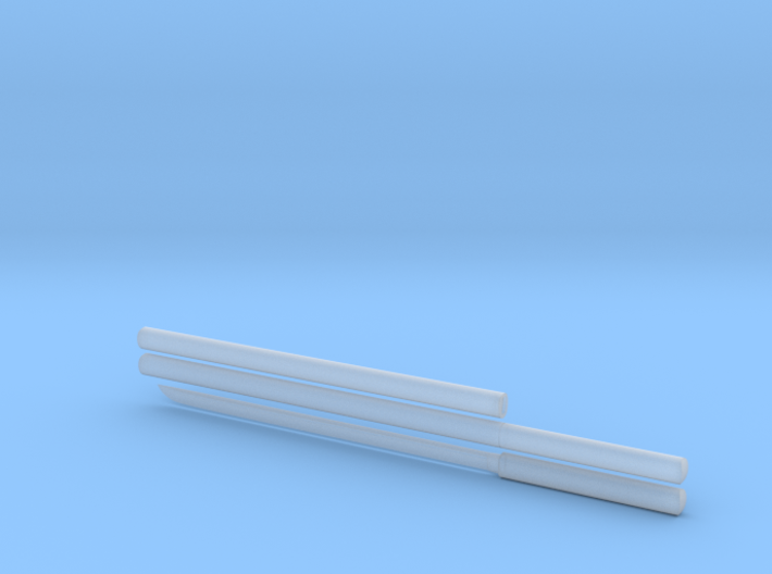 Katana - 1:12 scale - Straight blade - Plain 3d printed