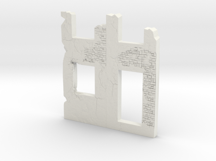 Building wall ruins 1/120 3d printed