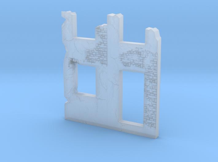Building wall ruins 1/144 3d printed