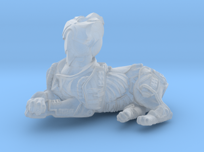 Anthropomorphic male heavy armor cat taur 2 (HSD m 3d printed