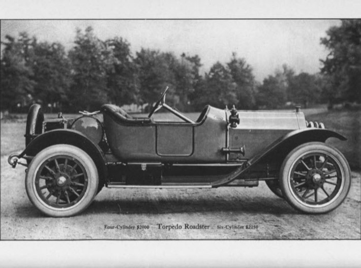 Body for Stutz Roadster c1912-14 3d printed Stutz catalog picture