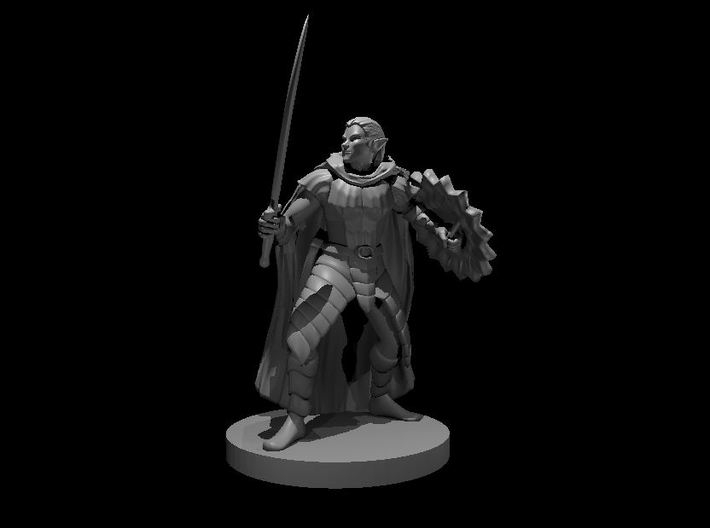Drow Elite Warrior 3d printed