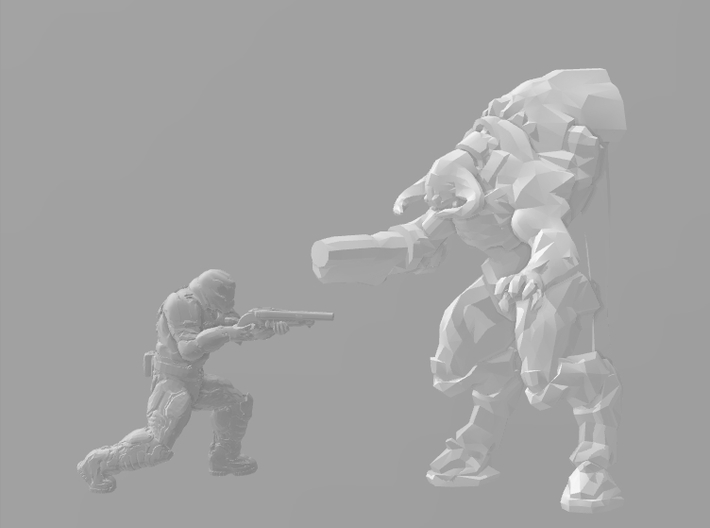 Doom 1/60 Cyberdemon miniature for games and rpg 3d printed