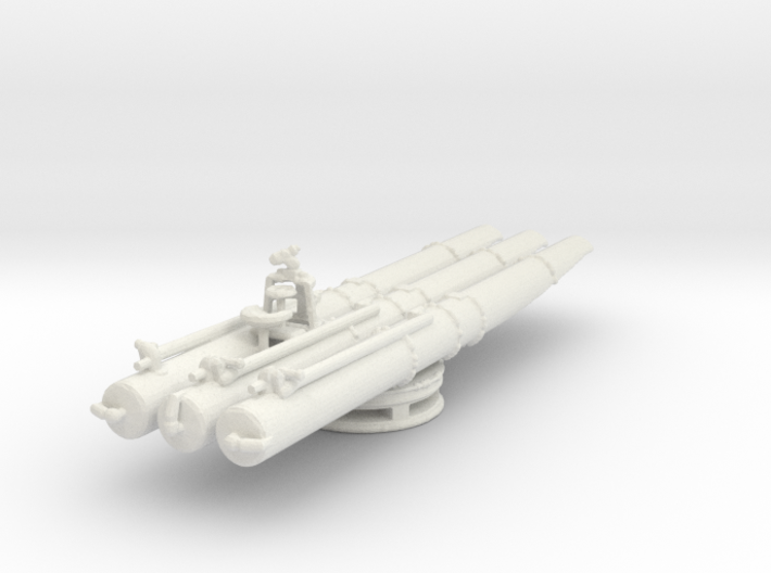 1/48 Scale USN Triple Torpedo Tubes WW2 3d printed