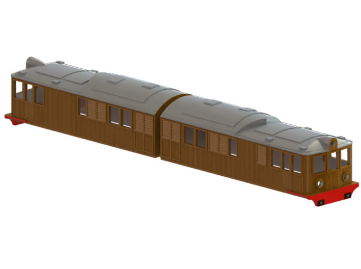 Swedish SJ electric locomotive type Oe / Of - H0-s 3d printed CAD-model