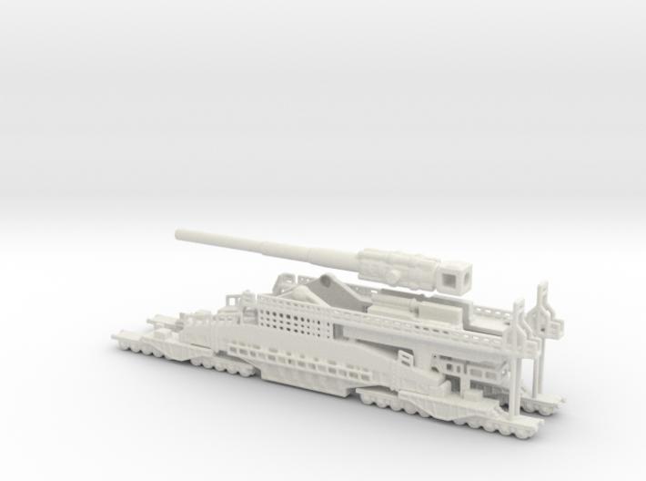 Schwerer Gustav railway artillery 80cm 1/285 6mm 3d printed