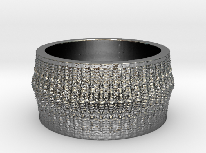 Rib Bone Ring 3d printed