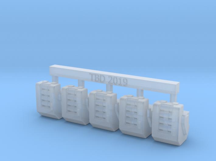 Heavy Bolter Box Mag V1 X5 3d printed