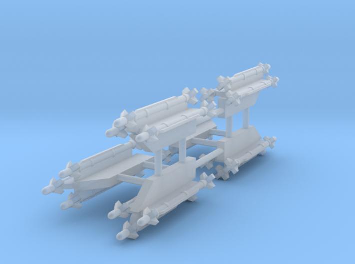 AIM-9X Sidewinder 3-Rack 3d printed