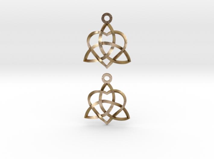 Infinity Love Earrings-Twisted 3d printed