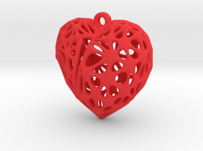 Broken Heart Earring (Small01) 3d printed