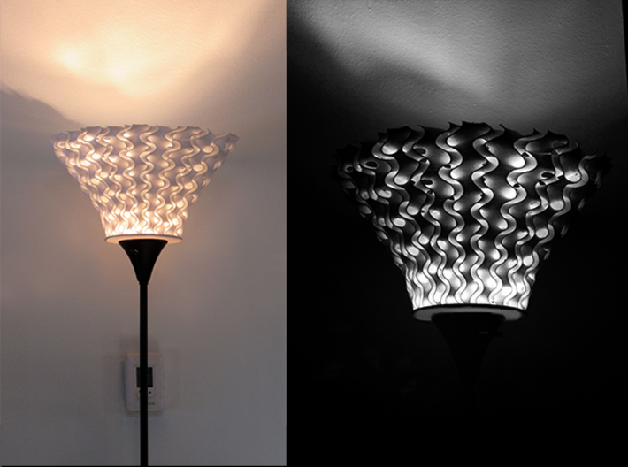 Double Helix Lampshade  3d printed