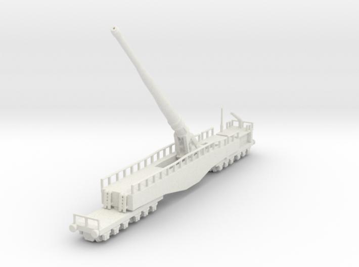 Krupp K5 28cm Leopold railway artillery 1/144 3d printed