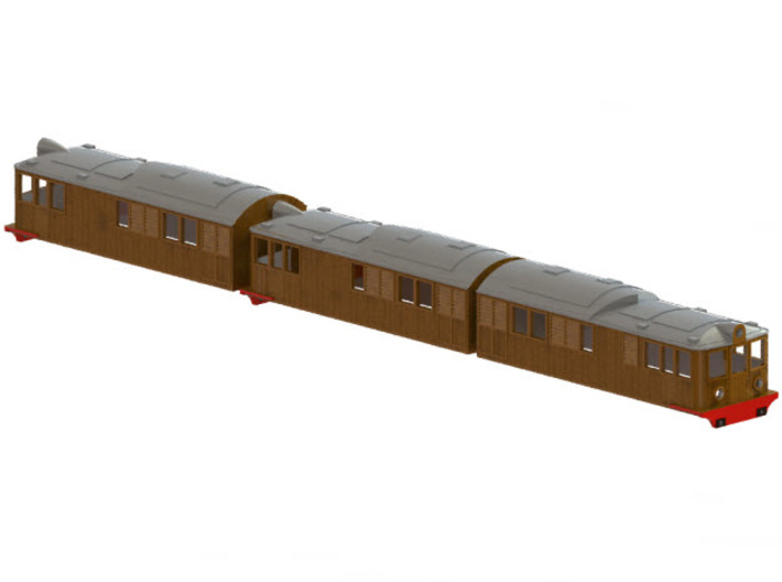 Swedish SJ electric locomotive type Of3 - H0-scale 3d printed CAD-modell