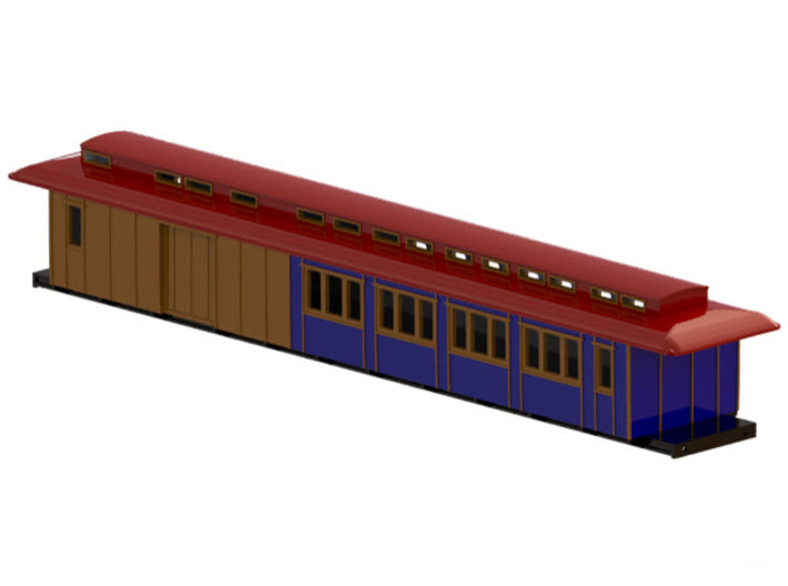 BFo1 model 00 - Swedish passenger wagon 3d printed CAD-model