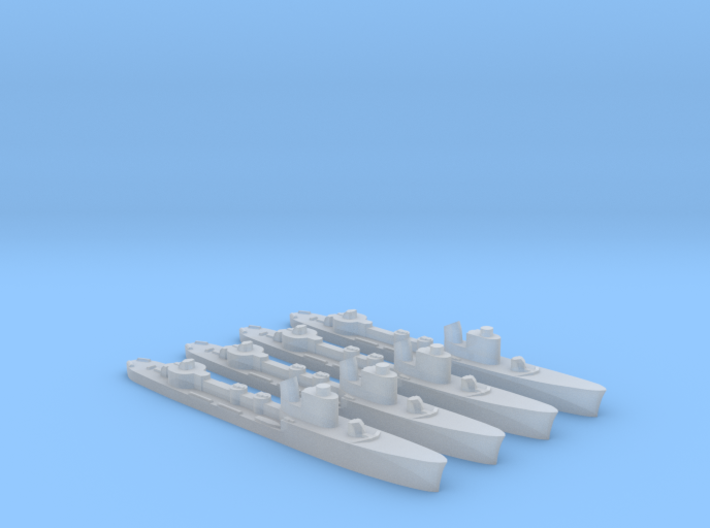 4 pack Spica class WW2 torpedo boat 1:2400 3d printed