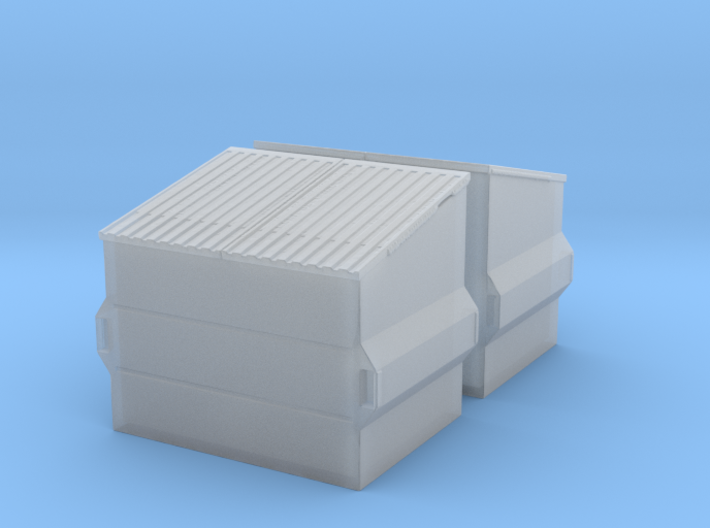 Dumpster (2 pieces) 1/76 3d printed