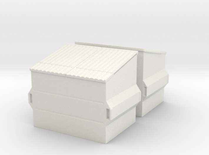 Dumpster (2 pieces) 1/56 3d printed
