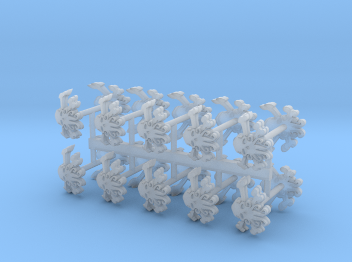 Commission 100 Shoulder Pad icons 3d printed