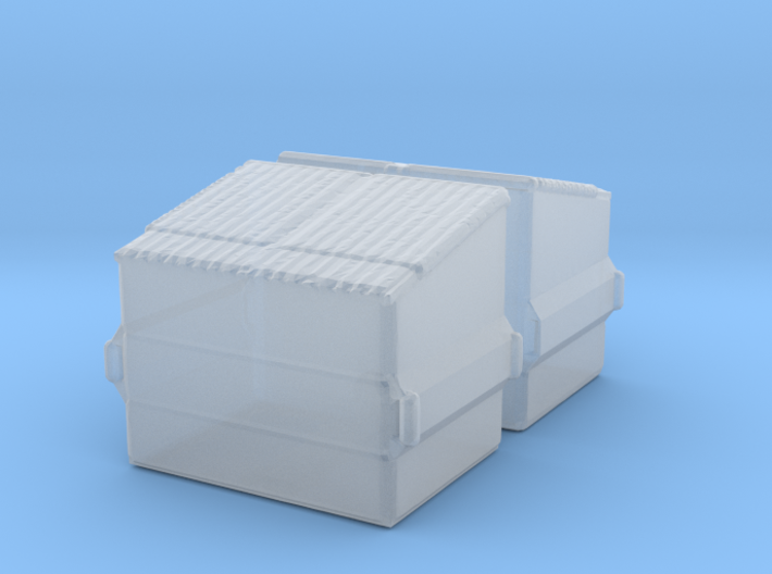 Dumpster (2 pieces) 1/285 3d printed