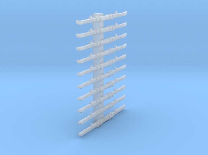 28mm Space Ruminant twin blades 3d printed