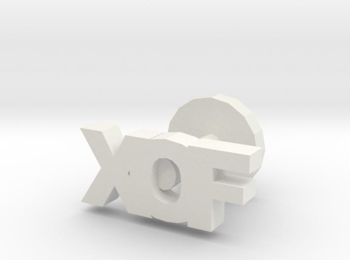 XOF cufflinks 3d printed