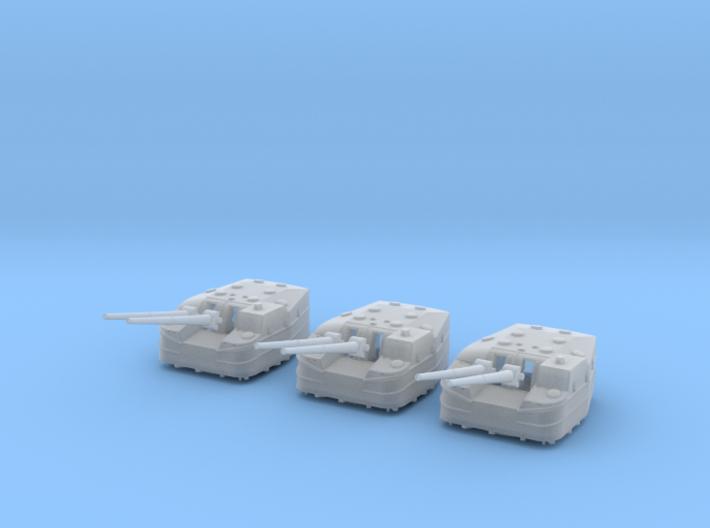1/306 IJN Type 3 127mm 50cal naval gun Set 3d printed