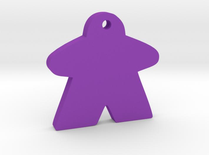 Meeple Keychain 3d printed