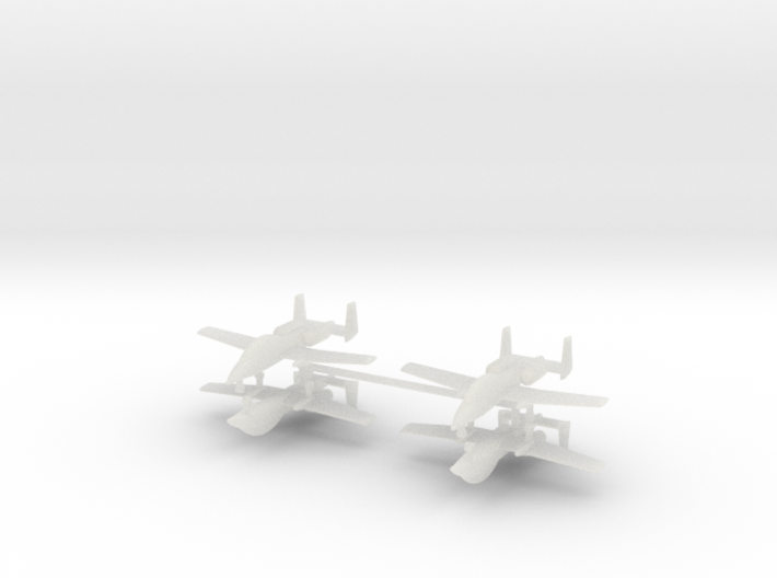 1/700 Two-Seater A-10 Thunderbolt II (Unarmed) (x4 3d printed