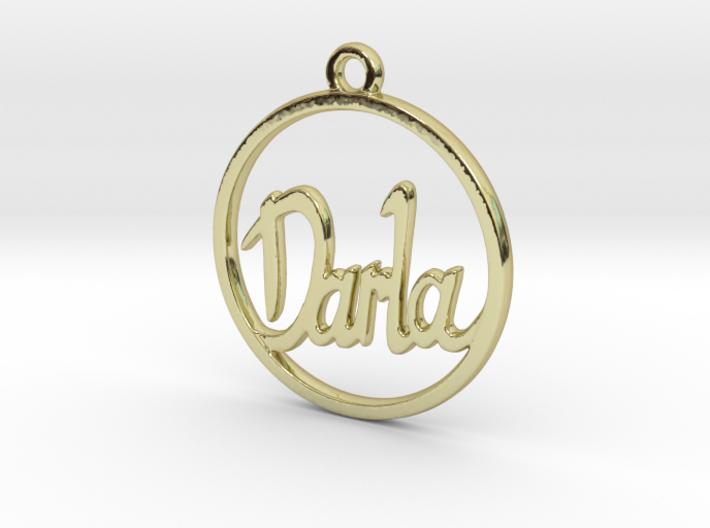 Darla First Name Pendant 3d printed