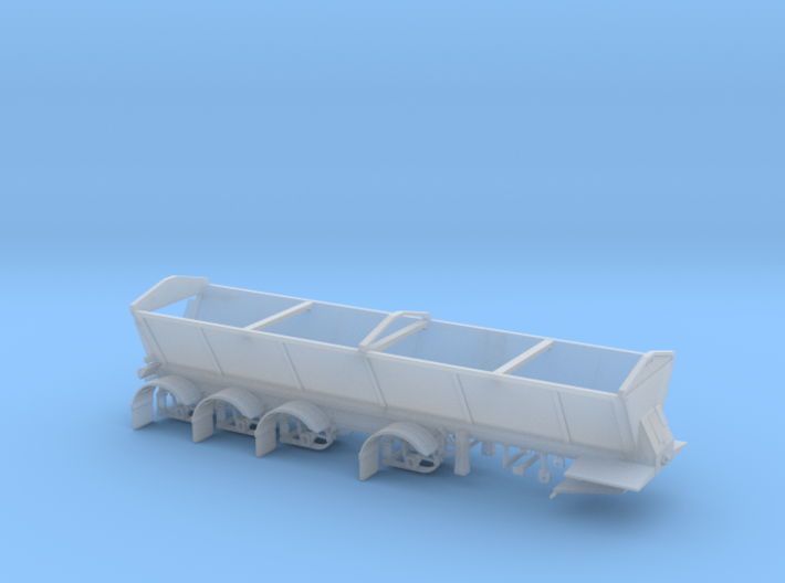 1/87th Live bottom quad axle dump trailer 3d printed