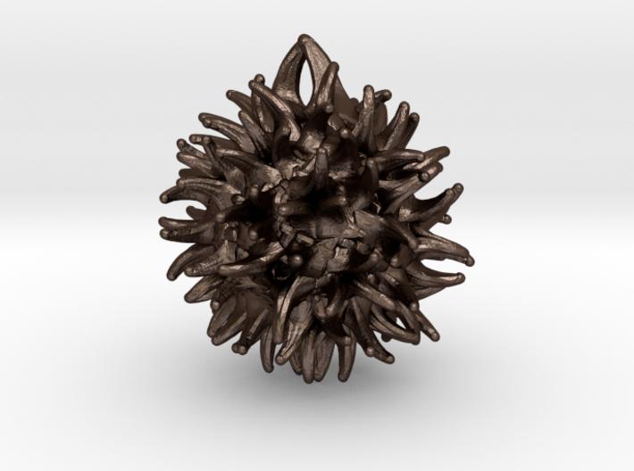 Sweetgum Tree Seed Pendant: Necklace/Earring 3d printed