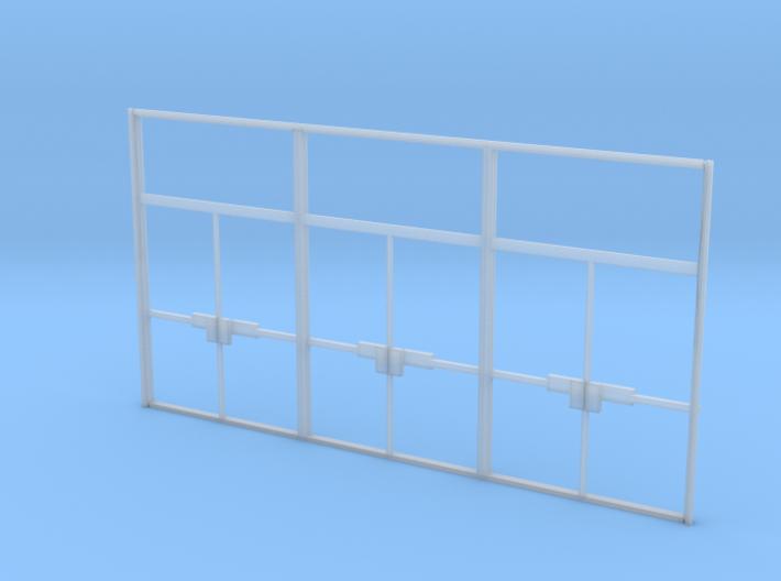 Triple Double Glass Door - HO 3d printed