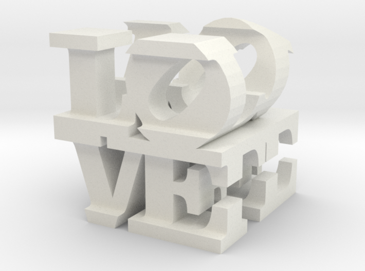 "love/life - medium (3"") 3d printed"