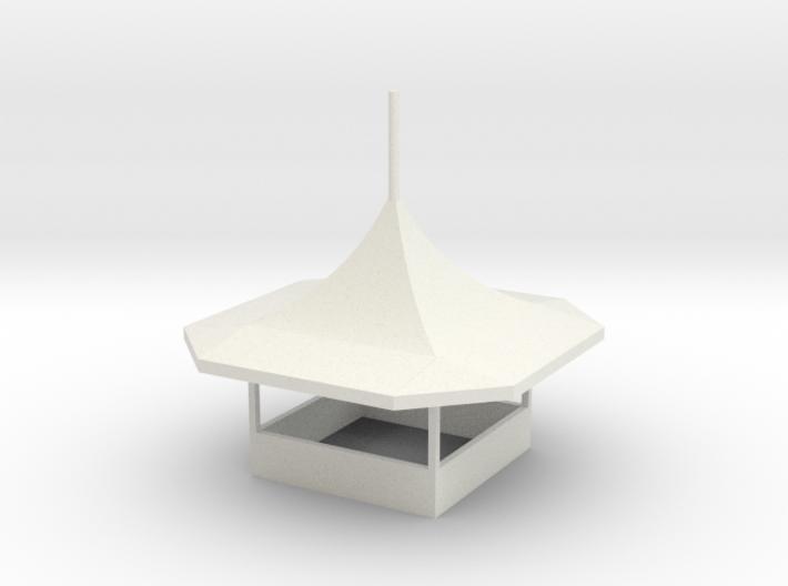 modern Gametent ver.2 - 1:87 (H0 scale) 3d printed