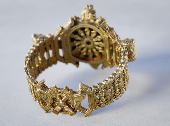 The Dwarven Ring of Festivities 3d printed Clean Brass as shipped