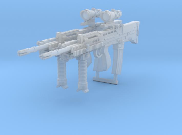 2x 1/18th L85A2 Tactical 2 3d printed