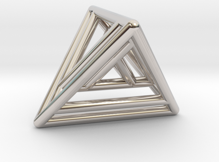 Nested Tetrahedrons 3d printed