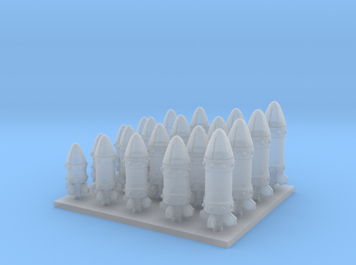 Space Orks Assorted Missles Type 01 3d printed