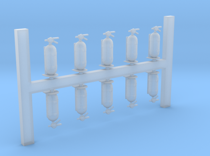 Fire Extinguishers 1/48 3d printed